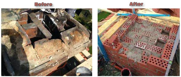Chimney Before & After